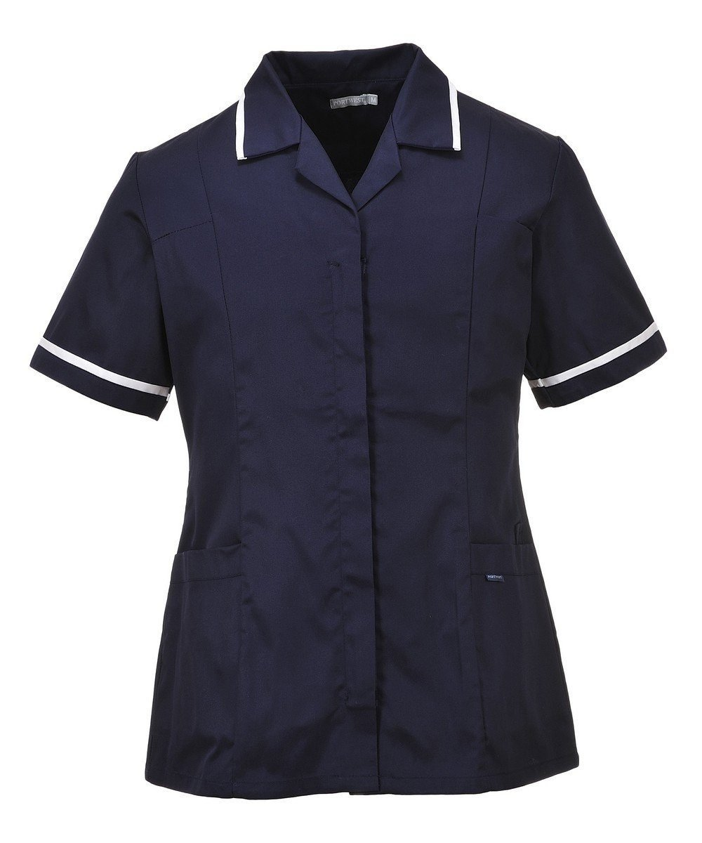 Portwest Classic Healthcare Tunic LW20 Navy Blue Colour with White Trim