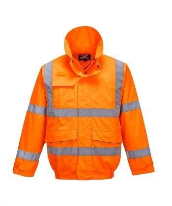 Portwest Extreme Hi Vis Bomber Jacket S591 Orange Colour