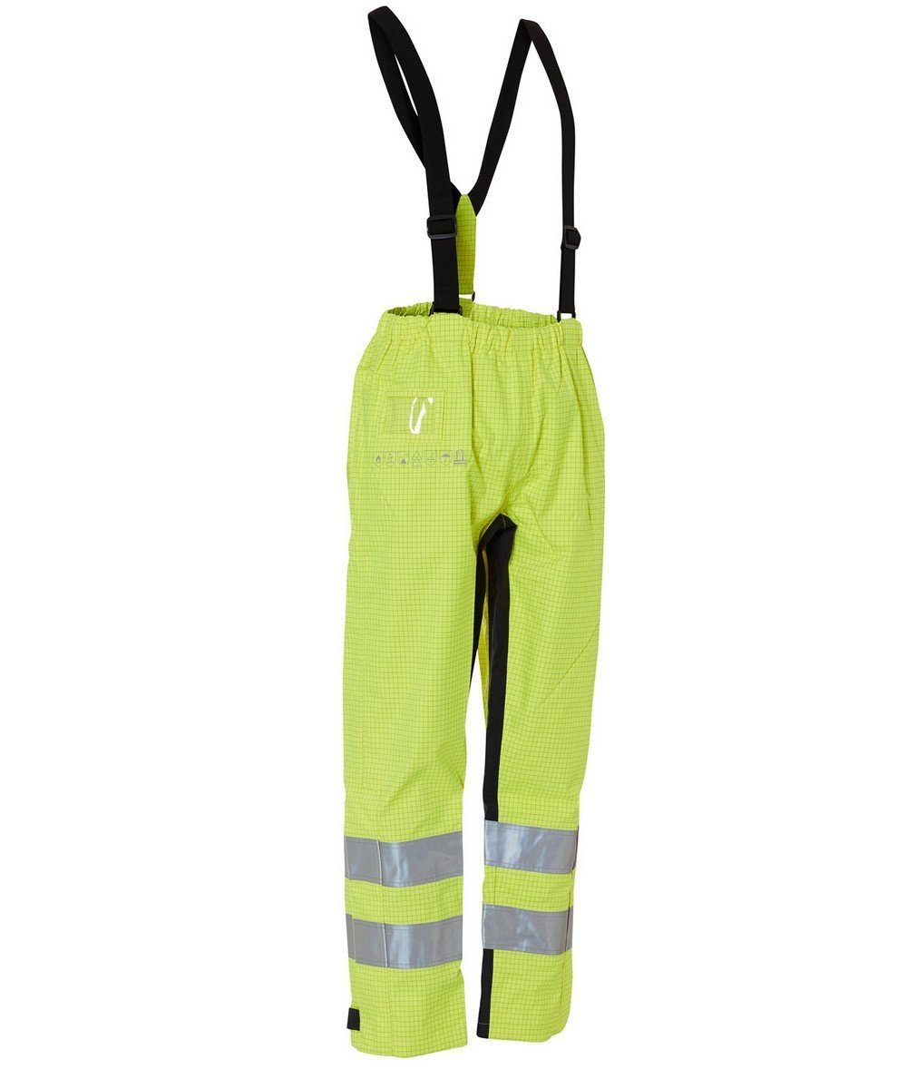 Elka Securetech Multinorm Electric Arc Waist Trousers 082460R Yellow and Navy Blue Colour