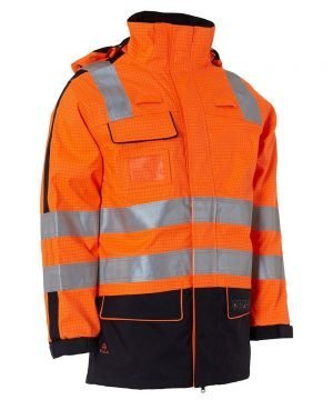 Elka Securetech Multinorm Electric Arc Jacket 086060R Orange and Navy Blue Colour