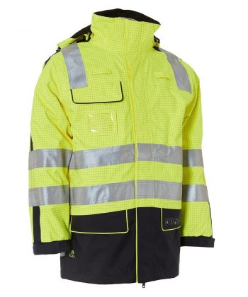 Elka Securetech Multinorm Electric Arc Jacket 086060R Yellow Navy Blue Colour