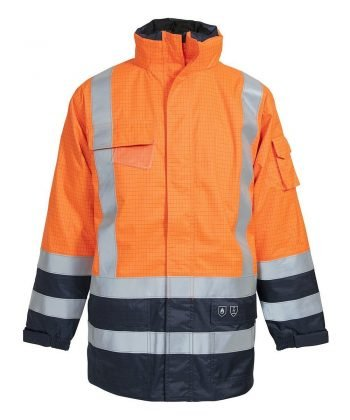 Elka Securetech Multinorm FR Jacket 086151R Orange and Navy Blue Colour