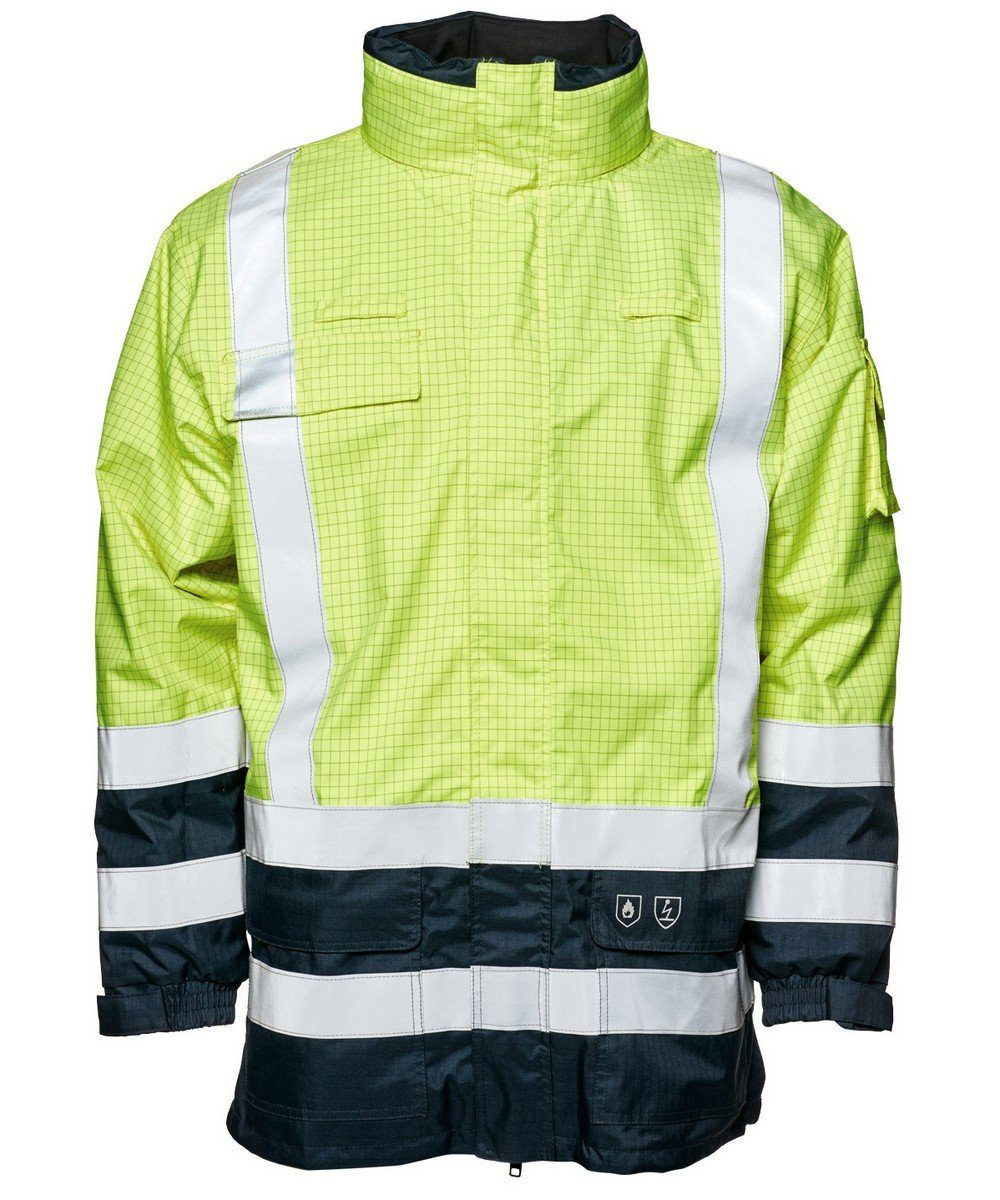 PPG Workwear Elka Securetech Multinorm FR Jacket 086151R Yellow and Navy Blue Colour