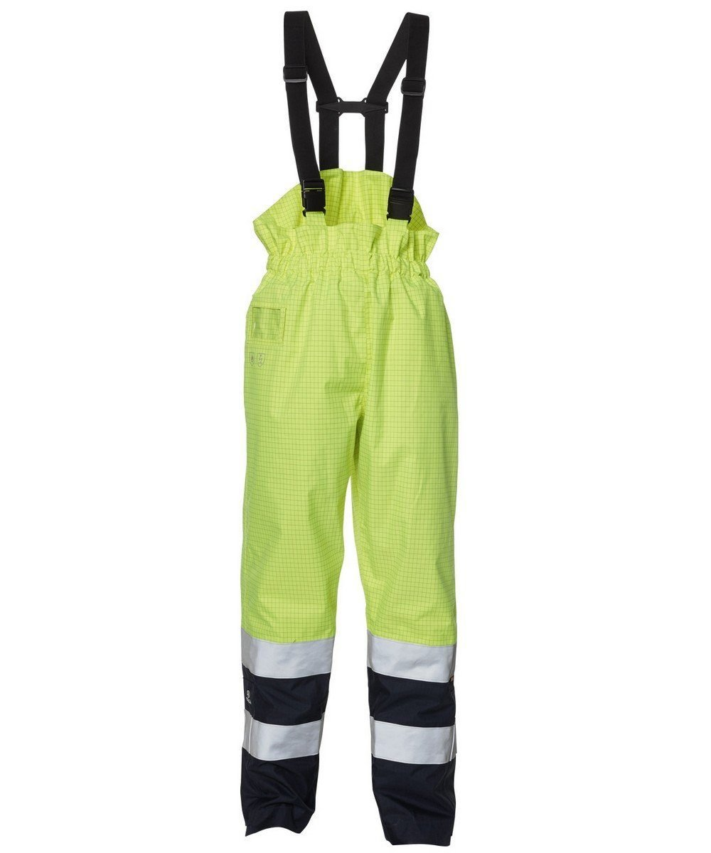 PPG Workwear Elka Securetech Multinorm Bib/Brace 089951R Yellow and Navy Colour