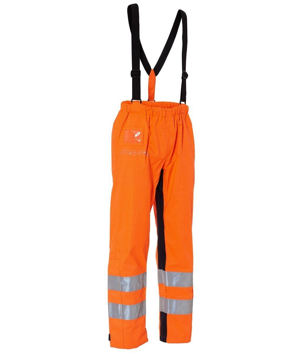 PPG Workwear Elka Securetech Multinorm Electric Arc Waist Trousers 082460R Orange and Navy Blue Colour