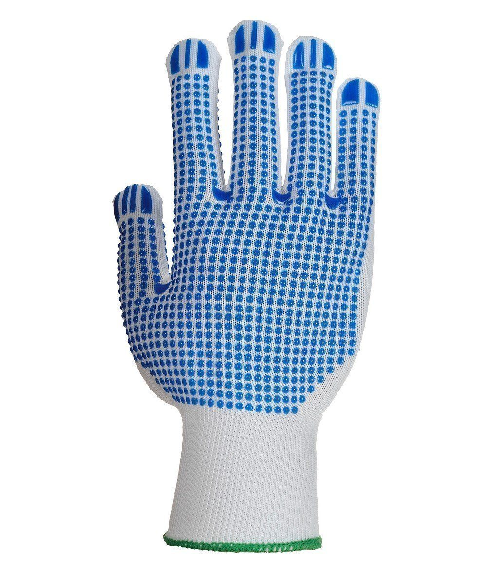 PPG Workwear Portwest Polka Dot Plus Glove A113 Blue and White Colour Back View