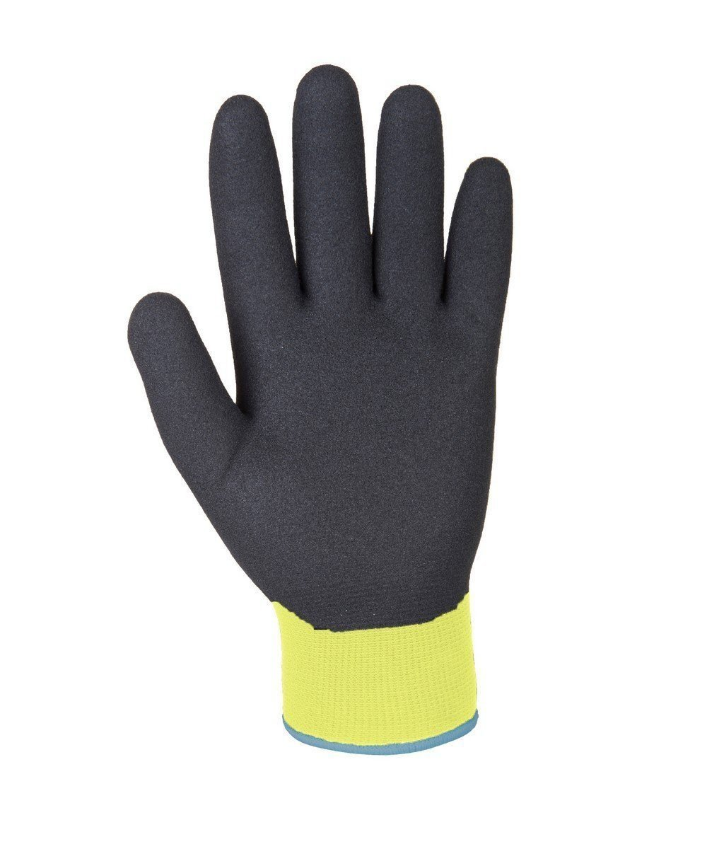 PPG Workwear Portwest Arctic Winter Glove A146 Yellow and Black Colour Palm View