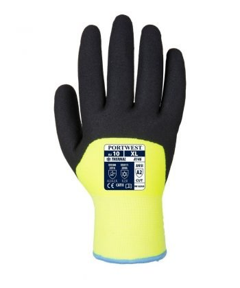 PPG Workwear Portwest Arctic Winter Glove A146 Yellow and Black Colour Back View