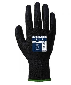 PPG Workwear Portwest Eco-Cut 3 Glove A635 Black Colour Back View