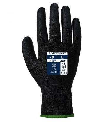 PPG Workwear Portwest Eco-Cut 3 Glove A635 Black Colour Back View