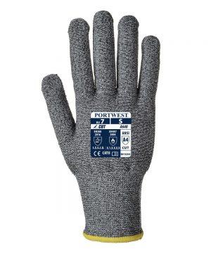 PPG Workwear Portwest Sabre-Dot Cut Resistant Glove A640 Grey Colour Back View