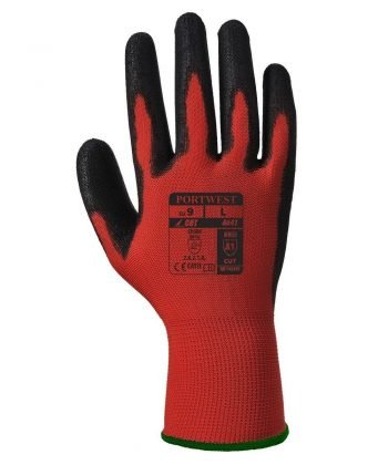PPG Workwear Portwest Red Cut 1 Glove A641 Red and Black Colour Back View