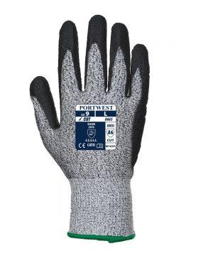 Portwest Advanced Cut 5 Glove A665 Black and Grey Colour Back View