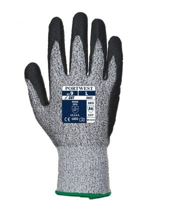 Portwest Advanced Cut 5 Glove A665 Black and Grey Colour Back View