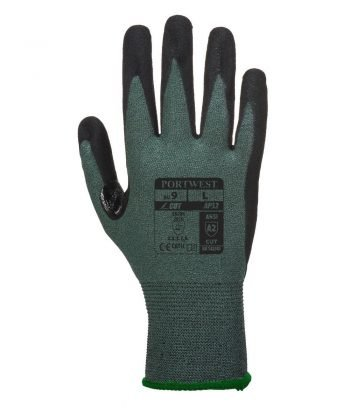 PPG Workwear Portwest Dexti Cut 3 Pro Glove AP32 Black and Grey Colour Back View