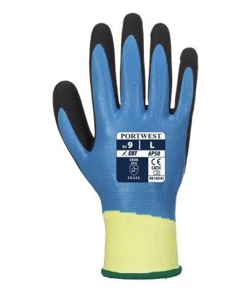 Portwest Aqua Cut 5 Pro Glove AP50 Blue and Black Colour Back View