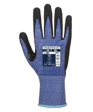 PPG Workwear Portwest Dexti Cut 5 Ultra Glove AP52 Blue and Black Colour Back View