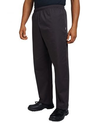 Dennys Best Value Chefs Trousers DC15 Black Colour