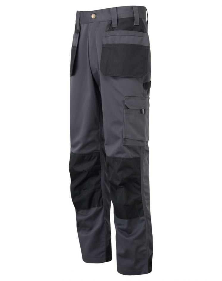 PPG Workwear TuffStuff Excel Work Trousers 710 Grey and Black Colour