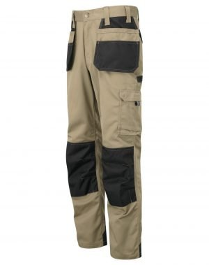 TuffStuff Excel Work Trousers 710 Stone and Black Colour