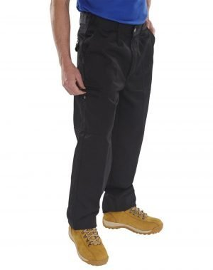 Super Click Heavyweight Drivers Trousers PCT9 Black Colour