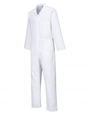 Portwest Food Industry Coverall 2201 White Colour Front View