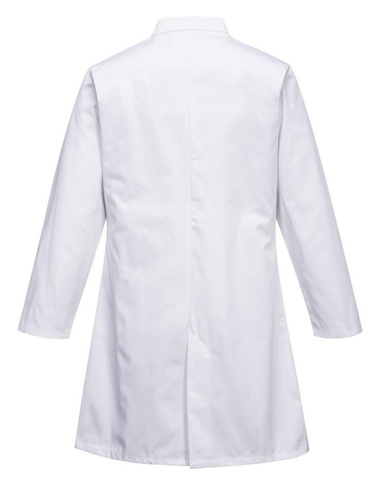 Portwest Food Coat One Pocket 2202 White Colour Back View