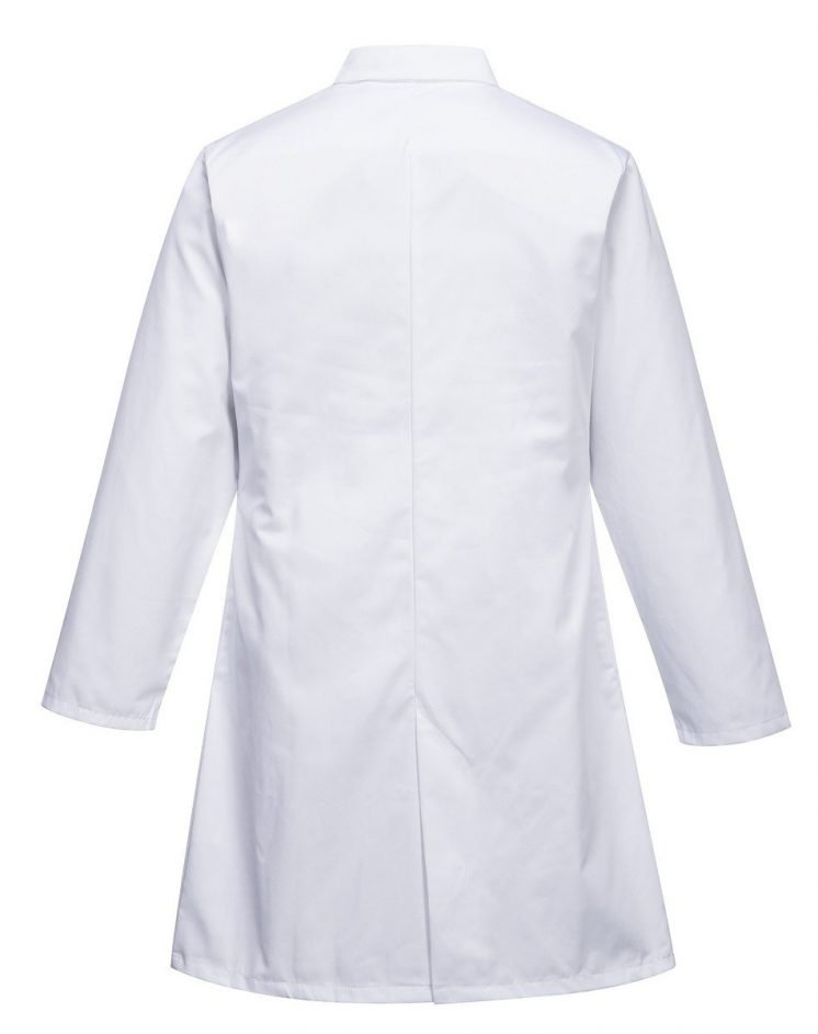 PPG Workwear Portwest Food Coat Three Pockets 2206 White Colour Back View