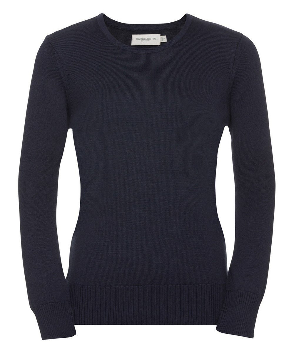PPG Workwear Russell Collection Ladies Crew Neck Knitted Pullover 717F French Navy Colour