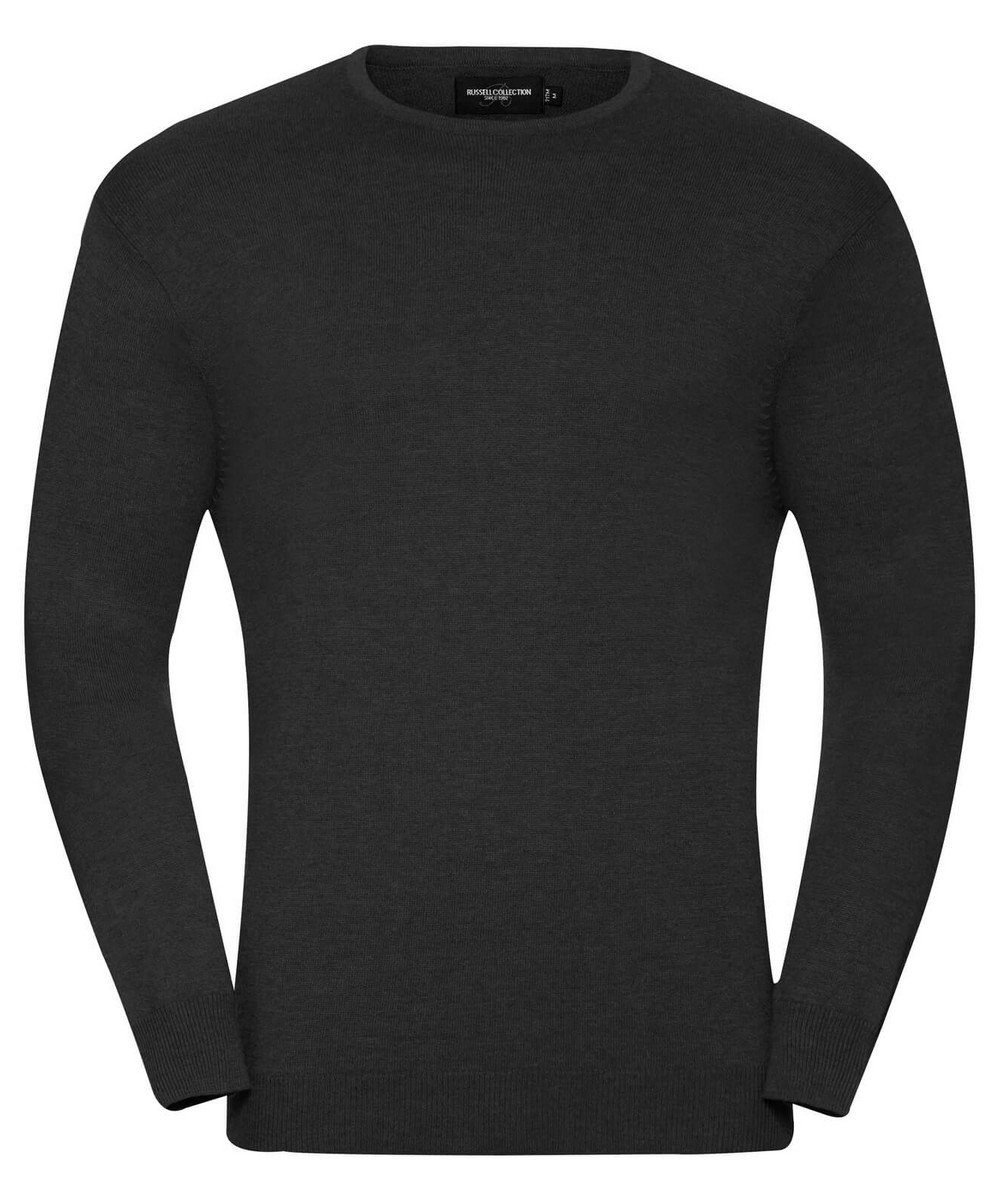 PPG Workwear Russell Collection Mens Crew Neck Knitted Pullover 717M Black Colour