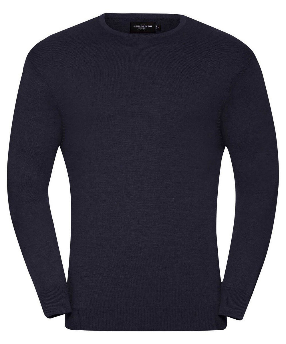 Russell Collection Mens Crew Neck Knitted Pullover 717M French Navy Colour