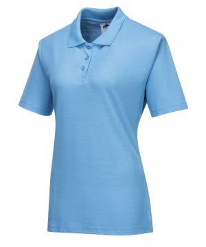 PPG Workwear Portwest Naples Ladies Polo Shirt B209 Sky Blue Colour