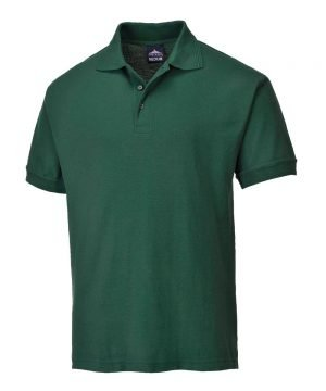 PPG Workwear Portwest Naples Polo Shirt B210 Bottle Green Colour