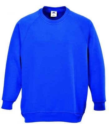 PPG Workwear Portwest Roma Sweatshirt B300 Royal Blue Colour