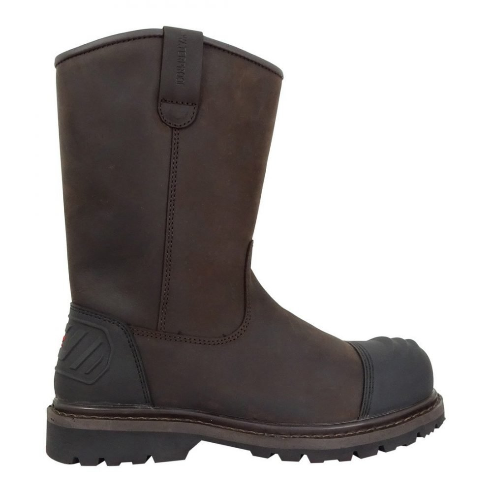 Hoggs of Fife Thor Safety Rigger Boot Crazy Horse Brown Colour