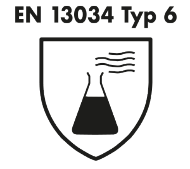 standard for liquid chemical protection EN 13034 Type 6