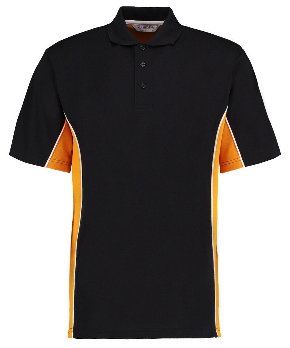 Gamegear Mens Track Pique Polo KK-475 Black and Gold Colour