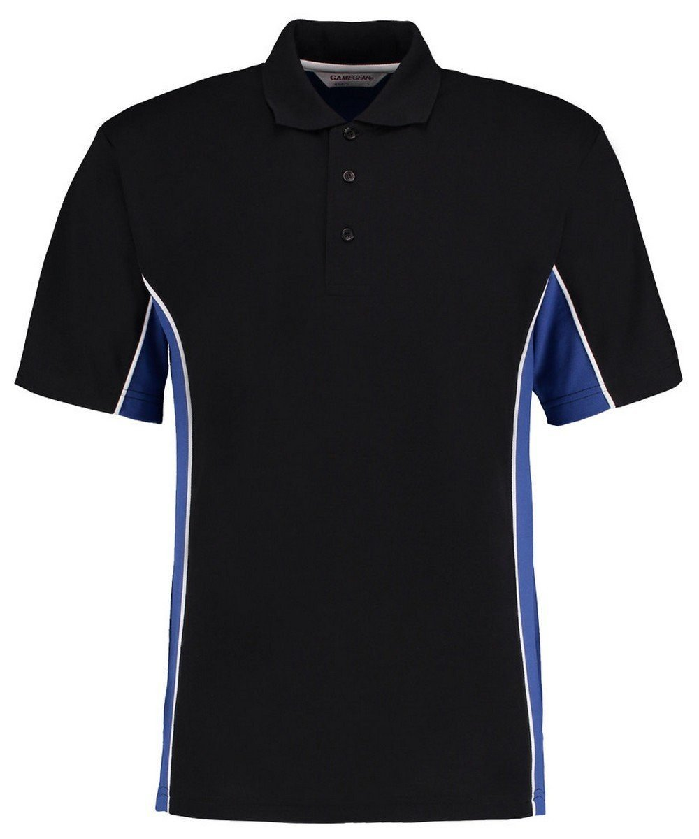 PPG Workwear Gamegear Mens Track Pique Polo KK-475 Black and Royal Blue Colour