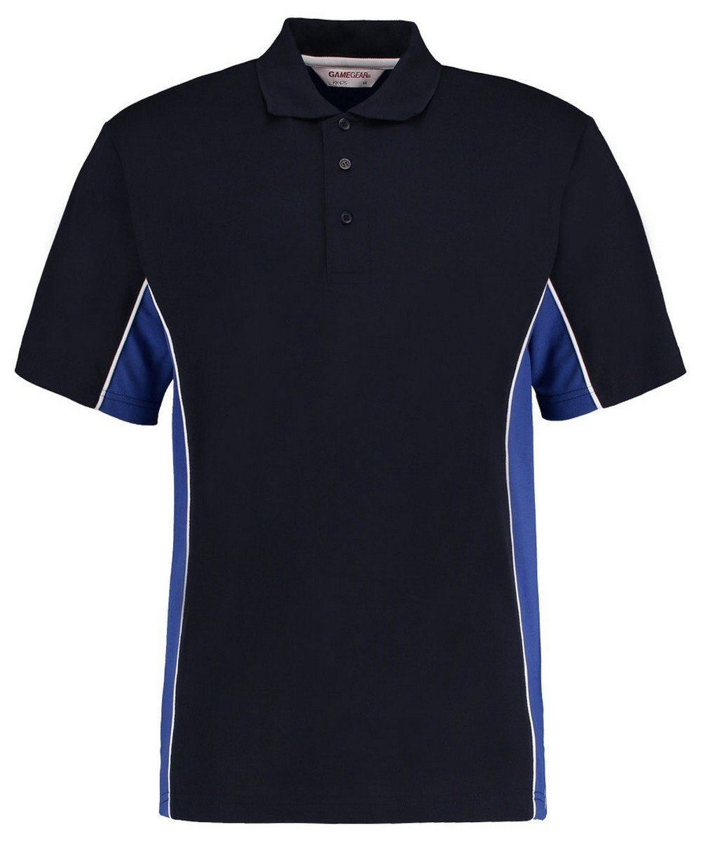 Gamegear Mens Track Pique Polo KK-475 Navy Blue and Royal Blue Colour