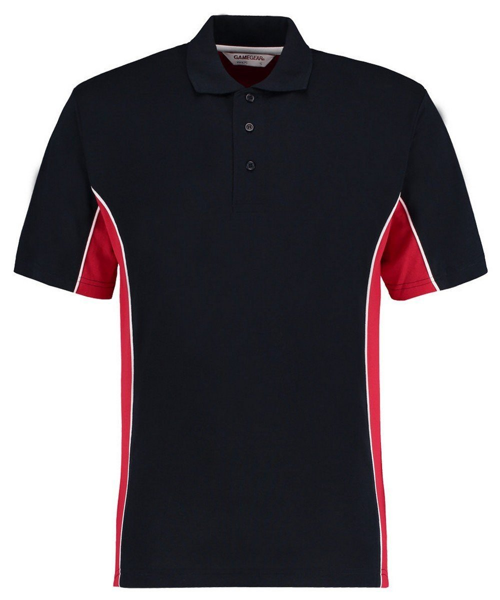 Gamegear Mens Track Pique Polo KK-475 Navy Blue and Red Colour