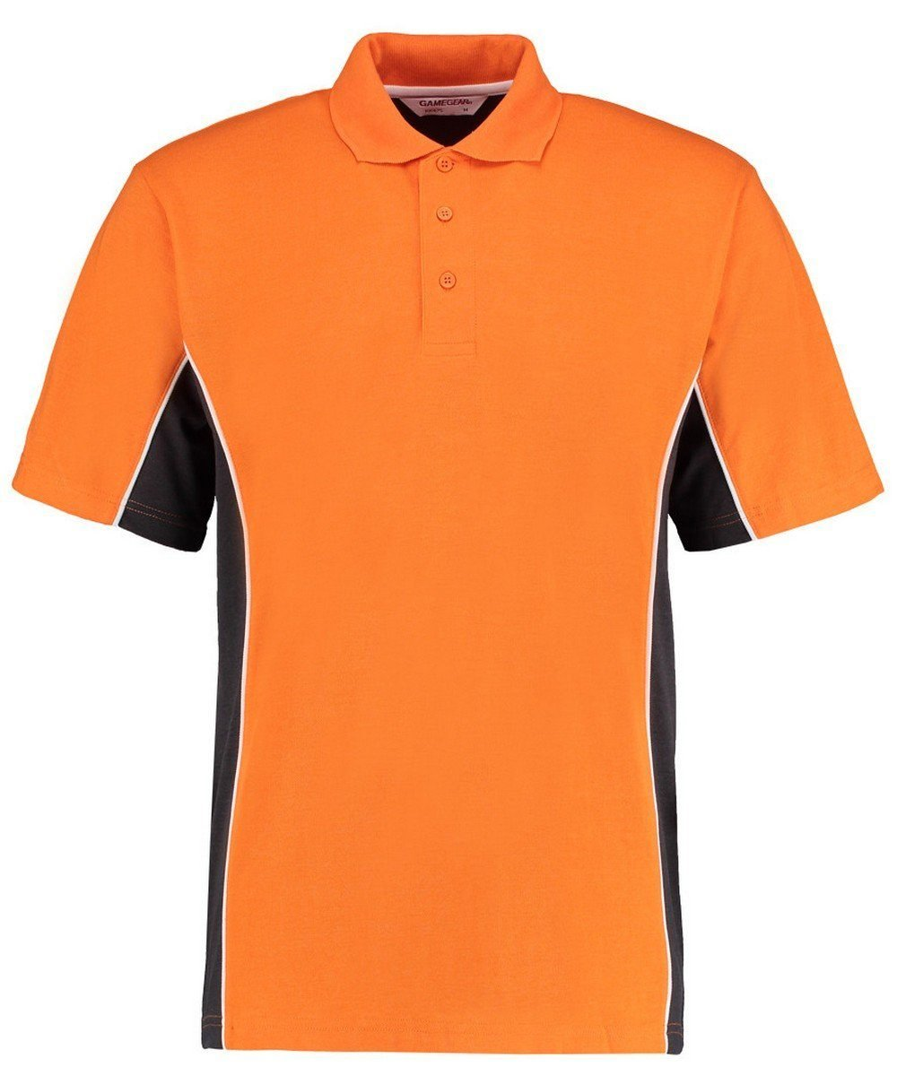 Gamegear Mens Track Pique Polo KK-475 Orange and Graphite Colour
