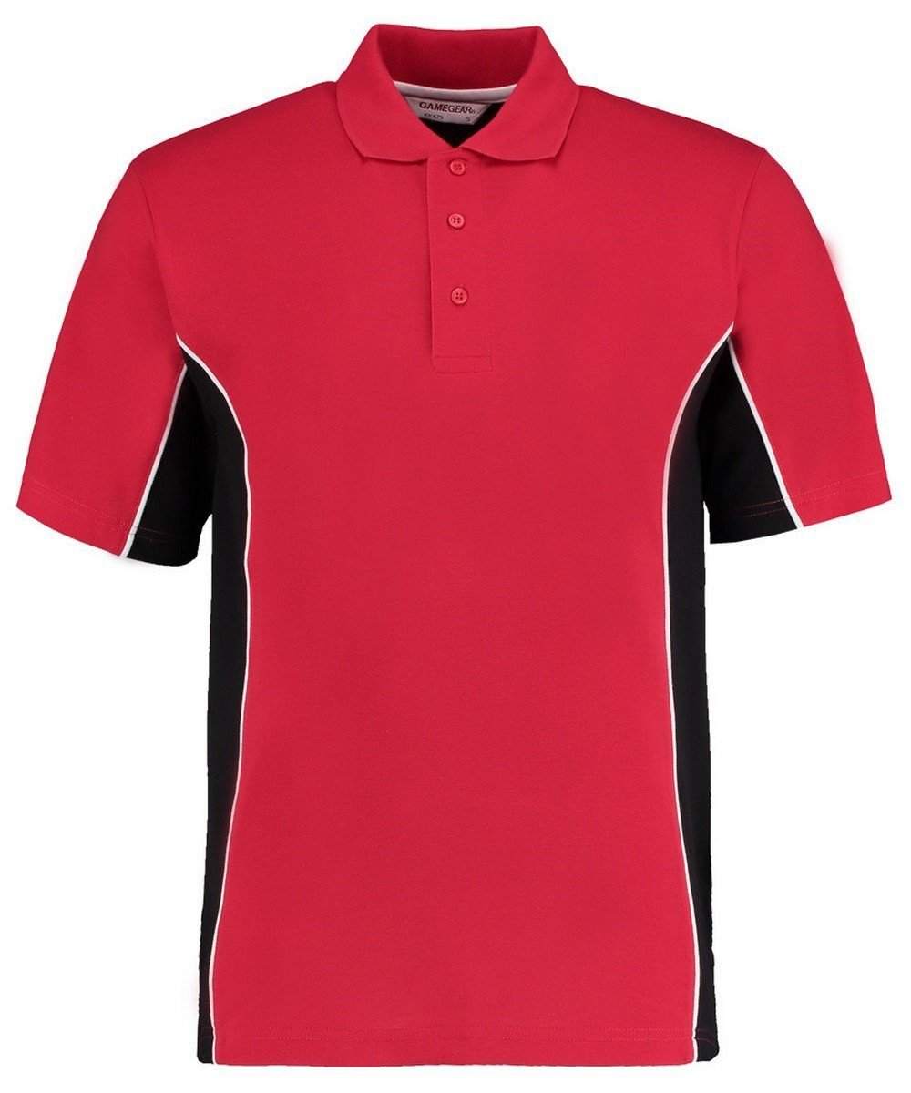 PPG Workwear Gamegear Mens Track Pique Polo KK-475 Red and Black Colour