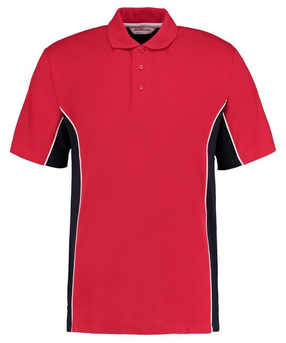 Gamegear Mens Track Pique Polo KK-475 Red and Navy Blue Colour