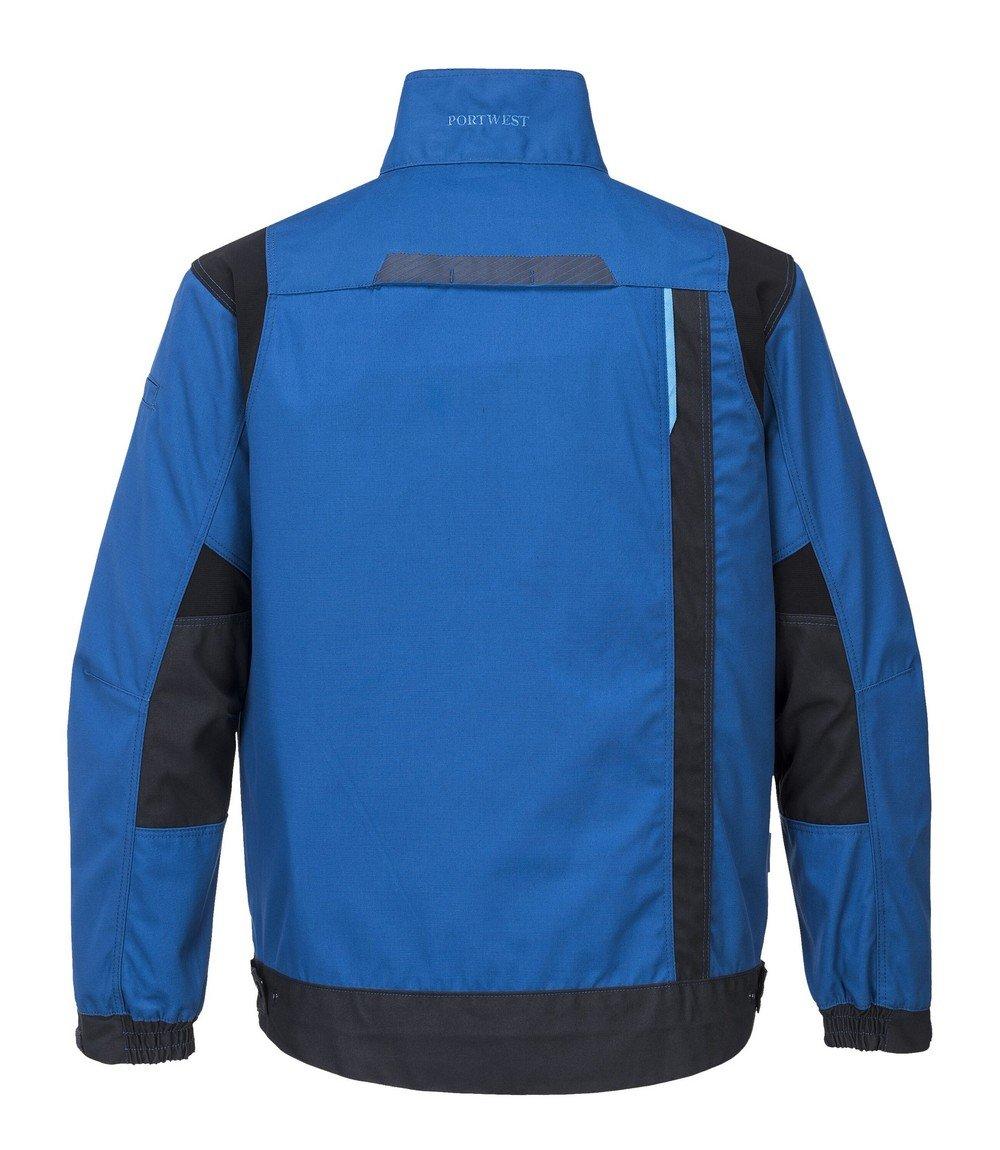 Portwest WX3 Work Jacket T703 Blue Colour Back View