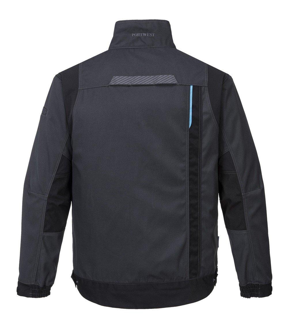 Portwest WX3 Work Jacket T703 Grey Colour Back View