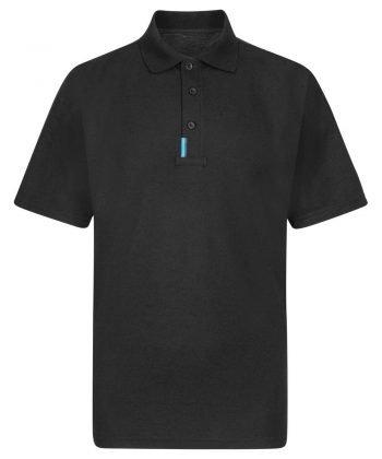 Portwest WX3 Polo Shirt T720 Black Front View