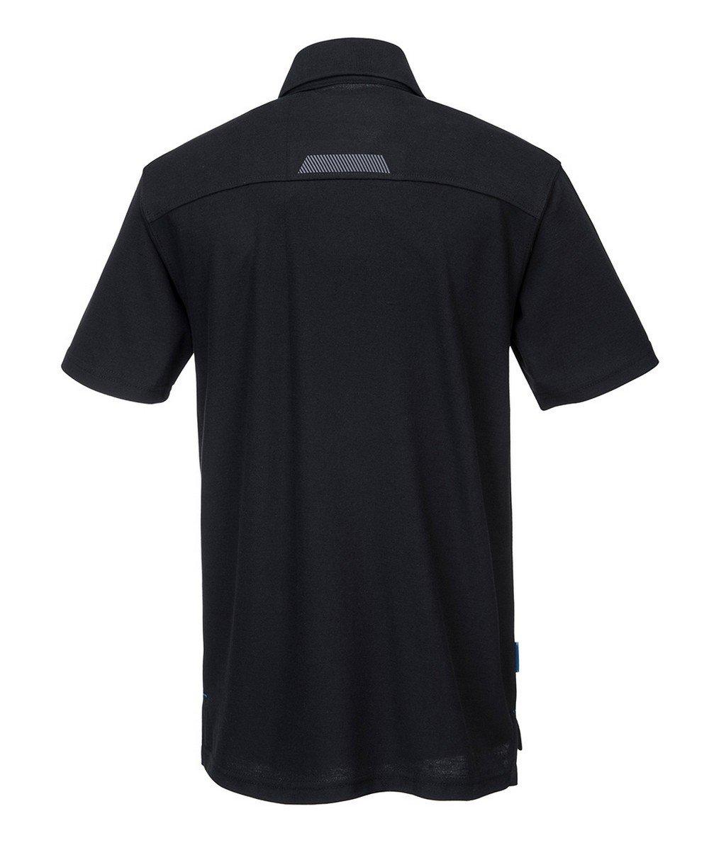 Portwest WX3 Polo Shirt T720 Black Colour Back View