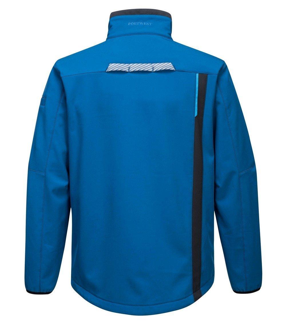 Portwest WX3 Softshell Jacket T750 Blue Colour Back View