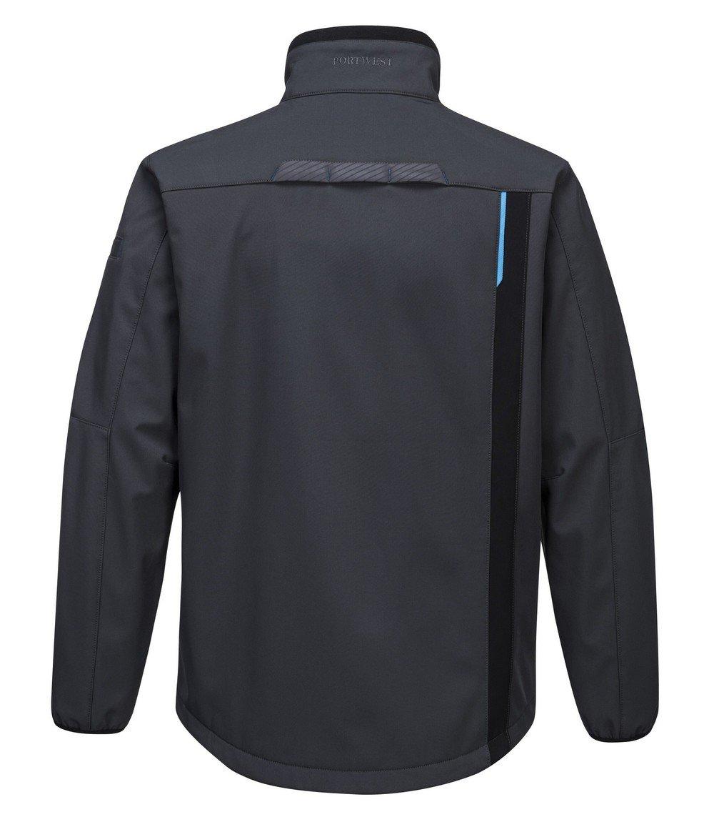 Portwest WX3 Softshell Jacket T750 Grey Colour Back View