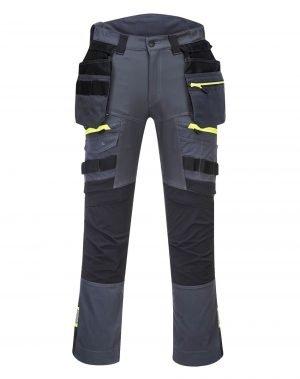 PPG Workwear Portwest DX4 Detachable Holster Pocket Trousers DX440 Grey Colour